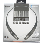 Sentry, On The Neck Bluetooth Headphones, Black and Gray, 8 1/4 x 1 1/2 x 6 3/4 inches