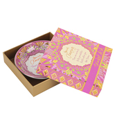 Pavilion Gifts, You Are Amazing Trinket Dish, Bone China, Pink, White and Orange, 4.25 inches