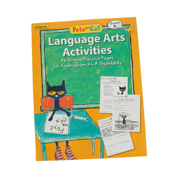 Edupress, Pete the Cat Language Arts Activities Workbook, Paperback, 48 Pages, Grade K
