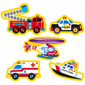 TREND enterprises Inc., Rescue Vehicles superShapes Stickers, Multi-Colored, Pack of 208