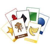 Renewing Minds, Shapes and Colors Bulletin Board Set, 20 Pieces