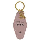 Santa Barbara Design Studio, Best Day Ever Vintage Motel Key Tag, Light Pink, 1 3/4 x 3 1/2 inches
