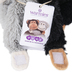 Warmies, Hugs Monkey Stuffed Animals, Plush, Black & Gray, 7 inches