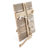 His & Hers, Ecclesiastes 4:12 Braided Rope Tabletop Plaque, MDF, 13 x 13 3/4 x 14 inches