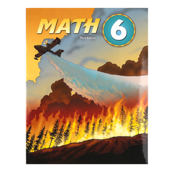 BJU Press, Math 6 Student Text, 3rd Edition, Paperback, Grade 6