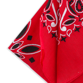 Western Party Red Bandana, Cloth, Square, Large 22 x 22 Inches, 1 Each