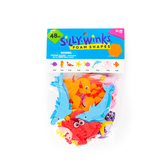 Silly Winks, Ocean Friend Foam Stickers, 5/8 x 2 1/4 inches, Assorted Colors, 48 count