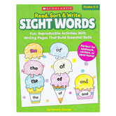 Scholastic, Read Sort and Write Sight Words Activity Book, Paperback, 64 Pages, Grades K-2