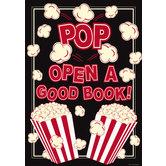 Pop Open A Good Book! Motivational Poster