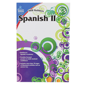 Carson-Dellosa, Skill Builders Spanish II Elementary Workbook, Reproducible, 80 Pages, Grades K-5