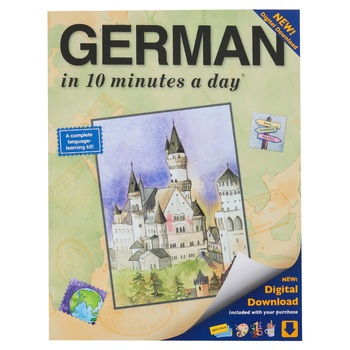 Bilingual Books, GERMAN in 10 minutes a day, Book with Digital Download