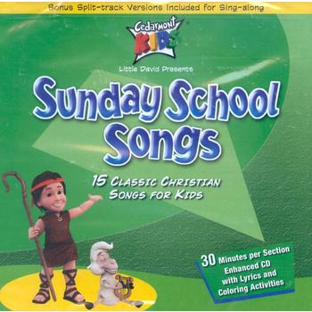 Sunday School Songs: 15 Classic Christian Songs for Kids, by Cedarmont Kids, CD