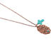 Wildflower Road, Bless Your Heart Necklace, Zinc Alloy, Iron, & Turquoise, 18 inches