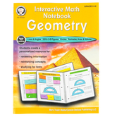 Carson-Dellosa, Interactive Math Notebook Geometry Resource Book, 64 Pages, Grades 6-8 and up