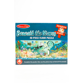 Melissa & Doug, Beneath the Waves Search and Find Floor Puzzle, Ages 4 to 7 Years Old, 48 Pieces