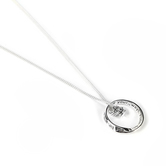 Dicksons, Psalm 91:11 Mobius Ring with Angel, Women's Necklace, Silver Plated, 18 inches