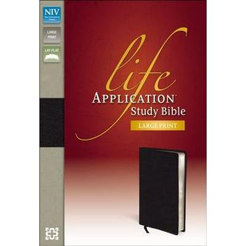 NIV Life Application Study Bible, Large Print, Thumb Indexed, Bonded Leather, Multiple Colors