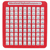 Small World Toys, They Keep Multiplying Keyboard, Red & White, 8 3/4 x 8 1/2 inches