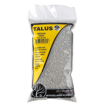 Woodland Scenics, Medium Gray Talus Rocks, 21.7 Cubic Inches, Ages 14 and Older