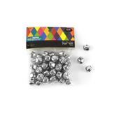 Jingle Bells Super Value Pack, 15 millimeter, Silver, Set of 50