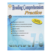 Carson-Dellosa, Reading Comprehension Practice, Reproducible Paperback, 96 Pages, Grades 7-8
