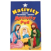 Happy Birthday Jesus Nativity Scene Activity Pad, Multi-Colored, 5 1/4 x 7 Inches, 48 Pages