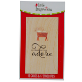 DaySpring, Luke 2:7 O Come Let Us Adore Him Christmas Boxed Cards, 16 Cards & Envelopes