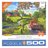 Eurographics, The Country Drive Puzzle, 1000 Pieces, 19 1/4 x 26 1/2 inches