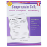 Scholastic, Comprehension Skills 40 Short Passages for Close Reading, 48 Pages, Reproducible, Grade 2
