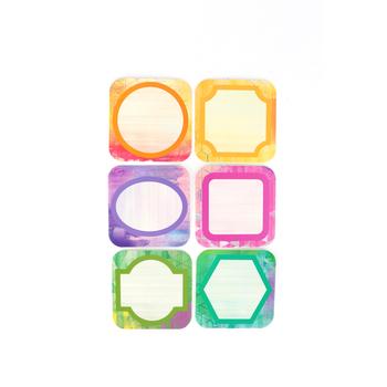 Retro Chic Collection, Mini Cutouts, 6 Assorted Multi-Colored Designs, 3 Inches, 36 Pieces