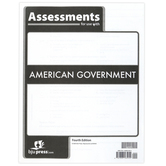 BJU Press, American Government Assessments, 4th Edition, Spiral, 108 Pages, Grade 12