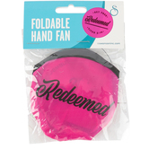 Swanson, Titus 2:14, Redeemed Folding Hand Fan, Pink, 10 inches with 3 1/2 x 3 3/4 inch Case