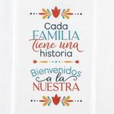 P. Graham Dunn, Every Family Has History Spanish Tea Towel, Cotton, White, 16 x 28 inches