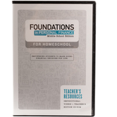 Foundations in Personal Finance: Middle School, Homeschool, Teacher DVD, by Dave Ramsey, Grades 6-9
