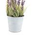 Mini Artificial Lavender Plant in Bucket, Plastic, 8 1/2 Inches Tall
