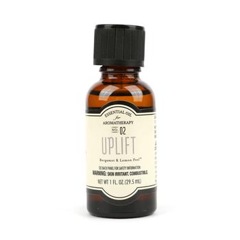 Uplift Aromatherapy Essential Oil, Bergamot & Lemon Peel Scent, 1 fluid ounce