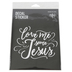 NOTW, Love Me Some Jesus Window Decal, White, 5 x 5 inches