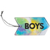 Retro Chic Collection, Boys Hall Pass, 3 x 6 Inches, Multi-Colored Ombre Pattern