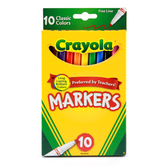 Crayola Thin Line Markers, Assorted Classic Colors, 10 Count