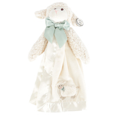 Bearington Baby Collection, Plush Lamby Snuggler Blanket, Cream, 15 inches