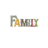 Family Wall Word, Metal, 31 x 12 inches