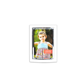 Plastic Photo Frame with Metal Facing, 4 x 6 inches, White
