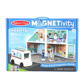 Melissa & Doug, Magnetivity Hospital Building Play Set, 83 Pieces, Ages 4 and Older