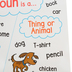 Scholastic, Anchor Chart: Noun, Multi-colored, 17 x 22 Inches, 1 Each, Grades 1-3