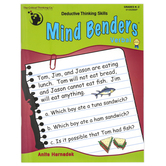 Critical Thinking Company, Mind Benders Verbal Book, Reproducible Paperback, Grades K-2