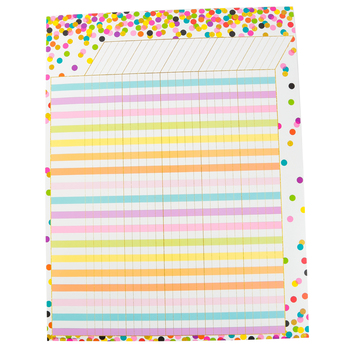 Teacher Created Resources, Confetti Customizable Incentive Chart, 17 x 22 Inches