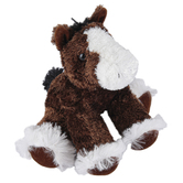 Aurora, Mini Flopsies, Clydes the Clydesdale Horse Stuffed Animal, 8 inches