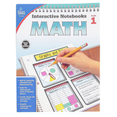 Carson-Dellosa, Interactive Notebooks Math Resource Book, Reproducible Paperback, 96 Pages, Grade 1