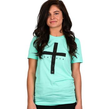 NOTW, John 3:36, I Believe, Short Sleeve T-Shirt, Mint Green, XS-2XL
