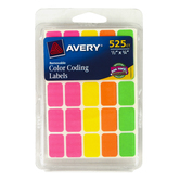 Avery, Color Coding Labels, 1/2 x 3/4 inches Each, 525 Labels